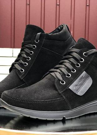 Мужские зимние ботинки vankristi 🔥зима, натуральная замша