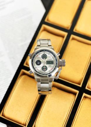Стильный подарок мужчине наручные часы армейские ⌚️ amst 3003