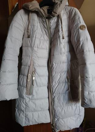 Куртка длинная женская зимняя