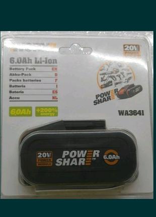 Новый Аккумулятор Powershare WORX 20V 6,0Ah