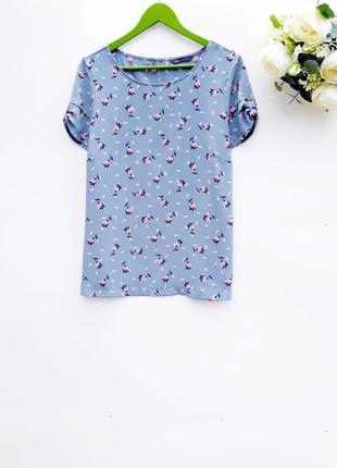 Красивая блузка в цветочки сказочная блузка большой размер
