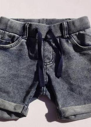 Keds. тёплые шорты, петелька 12-18 месяцев на мальчика. меланж.