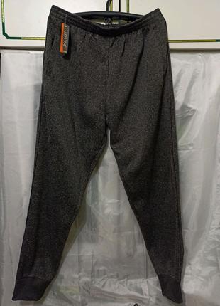 Штаны мужские спортивные брюки на байке. Большой размер
