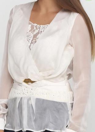 Роскошная блуза sassofono / s / m / натуральный шелк