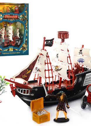 Пиратский корабль с пушкой