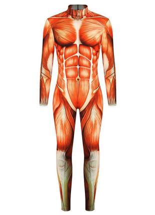 Костюм анатомического человека на хэллоуин