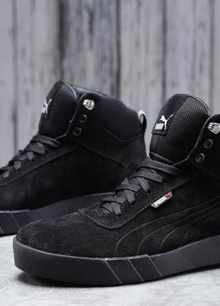 Зимние мужские кроссовки 31692 ► puma desierto sneaker, черные