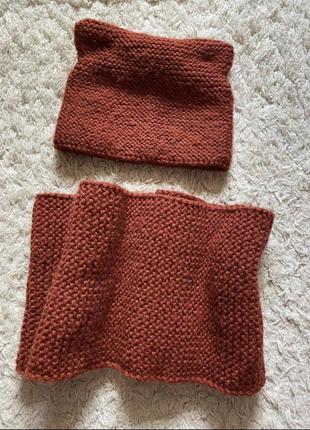 Шапка и шарф хомут