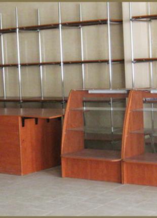 Торговая мебель. Витрина торговая. Прилавок тоговый стеклянный.