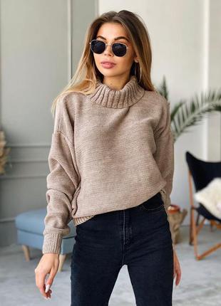 Теплий в'язаний светр свитер кофта джемпер пуловер