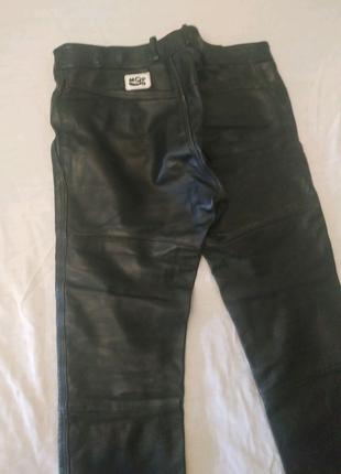 Штаны кожаные байкерские. Размер 50-52