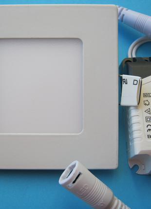 LED светильник врезной 3w, квадрат