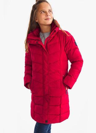 Удлиненная куртка пуховик c&a red