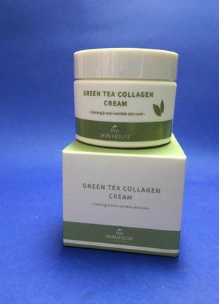 Крем с коллагеном и экстрактом зеленого чая the skin house