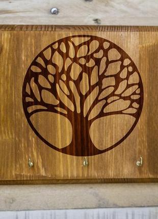 """Настенная ключница """"Дерево жизни"""" 06 из дерева"""