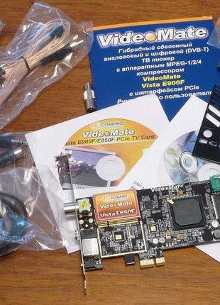 Гибридный PCI-Express TV- и FM-тюнер Compro VideoMate Vista E850F