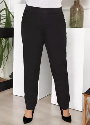 """Стильные женские брюки больших размеров """"костюмка"""", код ав776"""