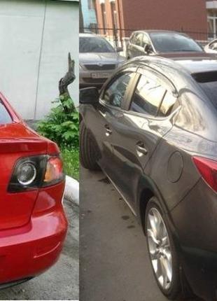 Лип Спойлер сабля Mazda 3 BK BL BM Козырек на стекло Мазда 3 Б...