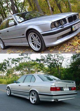 Накладка на передний задний бампер BMW E34 Юбка Губа БМВ Е34 Ш...