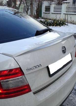Лип спойлер сабля Skoda Octavia A7, Спойлер RS Шкода Октавия А7