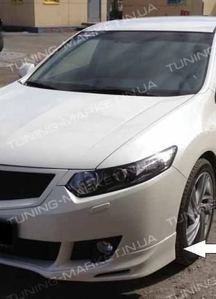 Накладка на бампер Honda Accord 7, 8 Civic Губа Юбка Аккорд Cивик