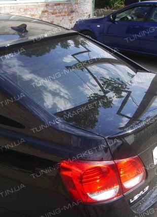 Лип Спойлер сабля для Lexus GS (2006-11) Козырек на стекло Лек...