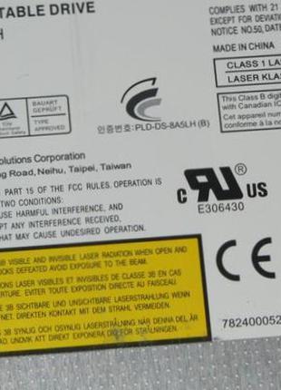 Оптический привод DS-8A5SH 12.7mm SATA DVD-RW