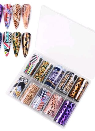 Фольга для нігтів манікюру дизайну
