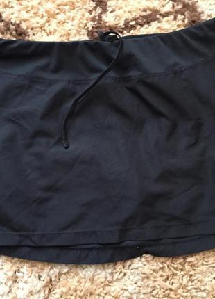 Черная спортивная юбка(внутри шорты) champion