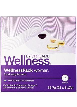 Wellness Вэлнес .   Комплекс витамин Велнес Пек для женщин.