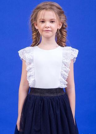 Белая блуза для девочки zironka