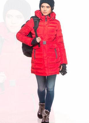 Женский пуховик Snowimage красного цвета, р.XL