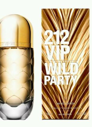 Женская туалетная вода Carolina Herrera 212 VIP Wild Party, 80 мл