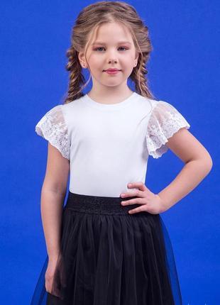 Блуза белая для девочки zironka