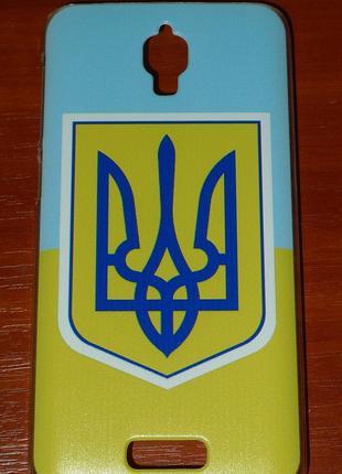 Чехол NN для Lenovo S660 Флаг и герб 0095