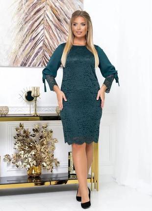 """Стильное женское платье больших размеров """"розалия"""", код нн159"""
