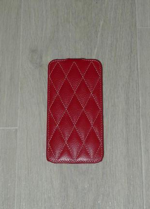 Чехол Vetti для Samsung G900 S5 красный 0109