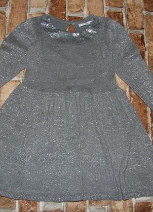 Платье нарядное 3-4 года m&s