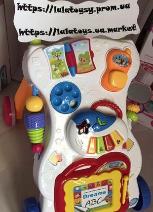 Детский игровой центр музыкальная каталка ходунки HE0801, пианино