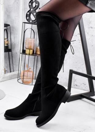 ❤ женские черные  осенние демисезонные ботфорты сапоги ❤