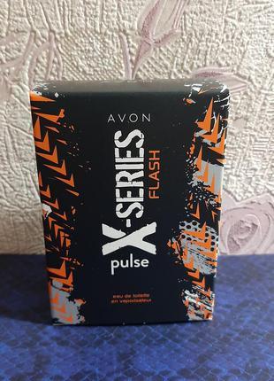Туалетная вода avon x-series pulse flash