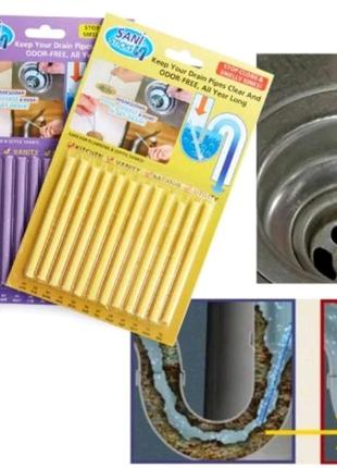 Палочки для очистки водосточных труб Sani Sticks 12 палочек