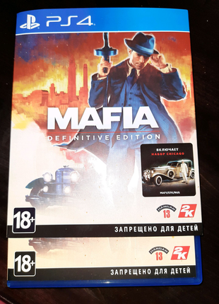 Mafia Definitive edition for Ps4 !ТОРГ!