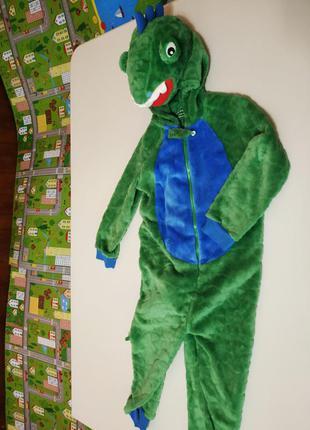 Новогодний карнавальный костюм динозавра primark  на 3-5 лет