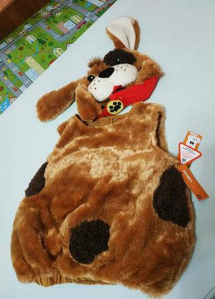 Карнавальный новогодний костюм собаки st. bernard на 1-3 года