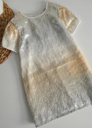 Шикарное платье на 3-4г