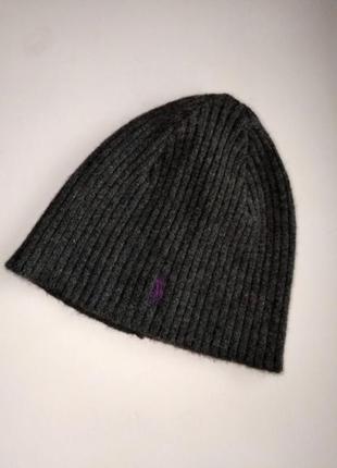 Шерстяная шапка polo ralph lauren, оригинал с ангорой