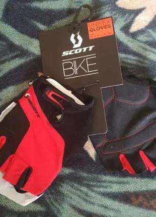 Вело перчатки SCOTT - Black & Red -