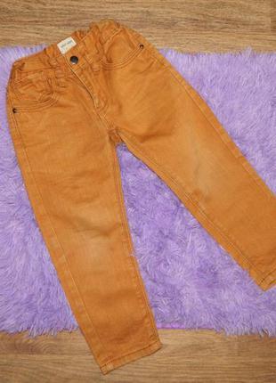 Штаны и брюки джинсы детские рыжие коричневые на мальчика 3-4 ...