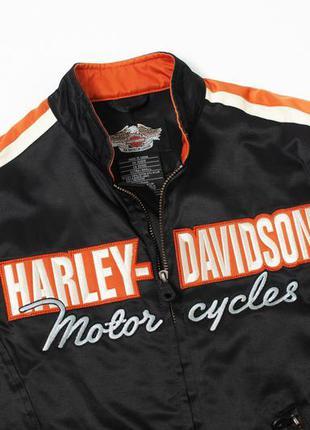Harley-davidson® vintage nylon casual black jacket оригинальна...